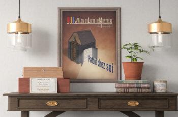 04-Affiche pour le Salon du livre (projet étudiant)