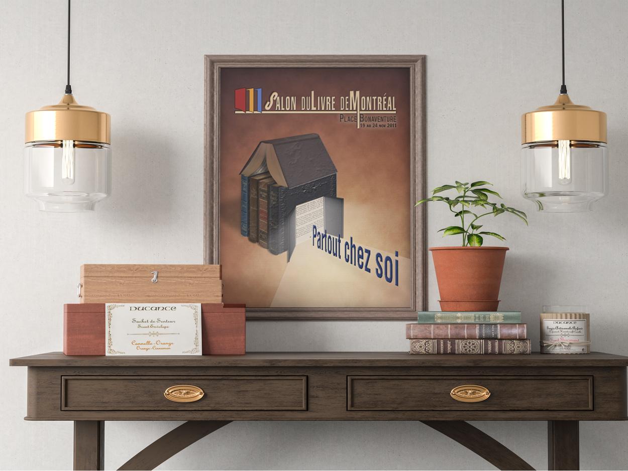 Affiche pour le salon du livre (projet étudiant)