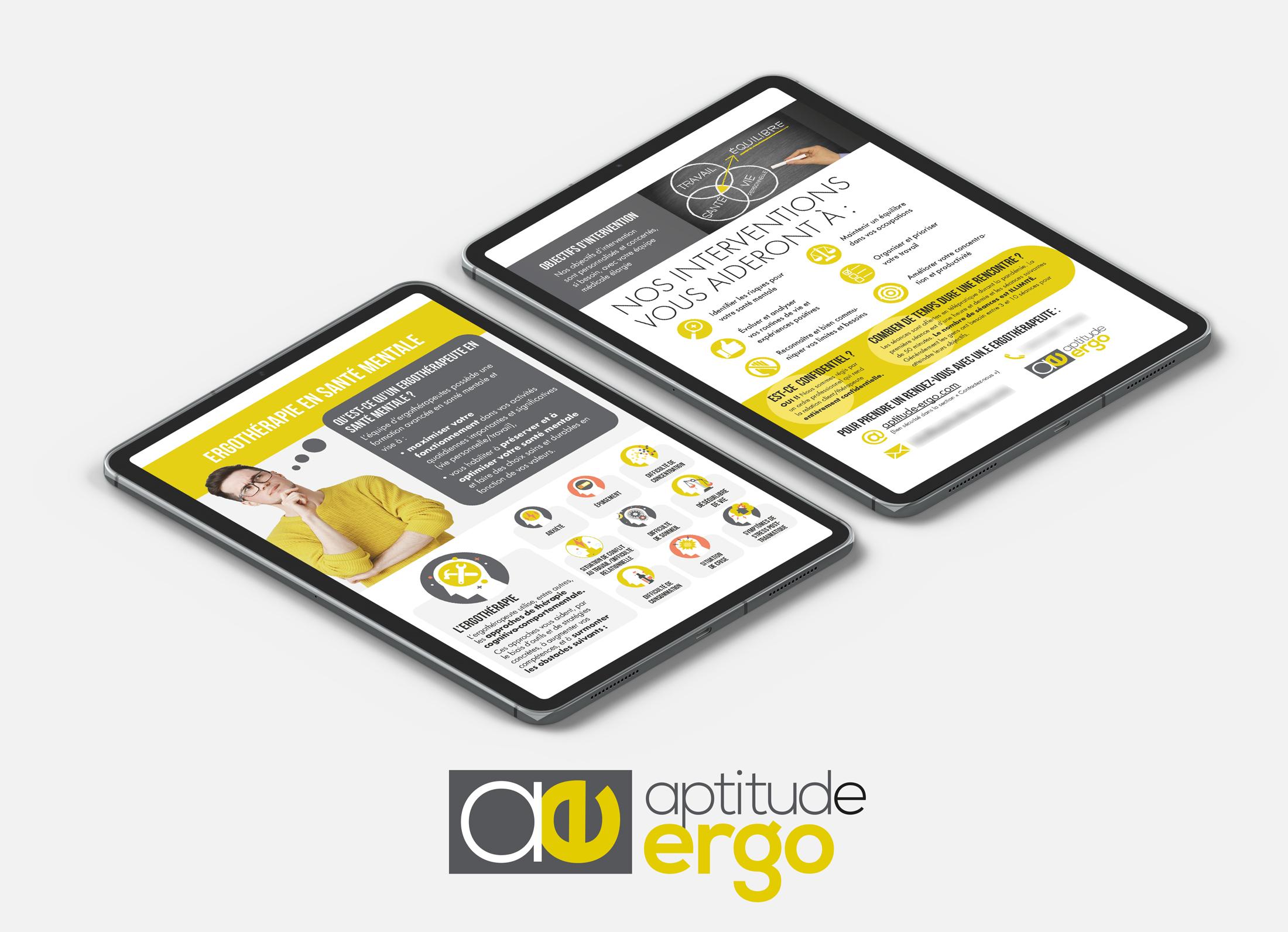 Page d'accueil pour Aptitude-ergo