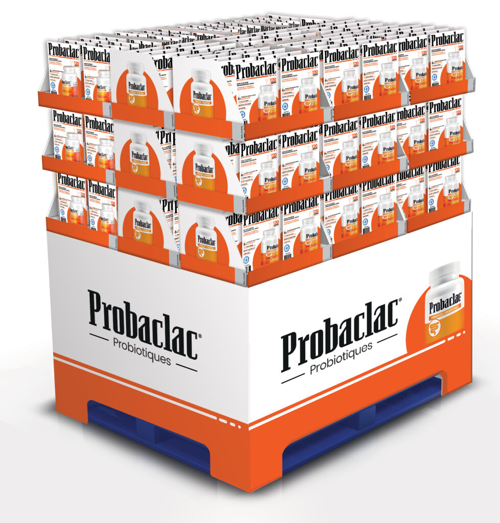Nouveau présentoir Costco pour Probaclac